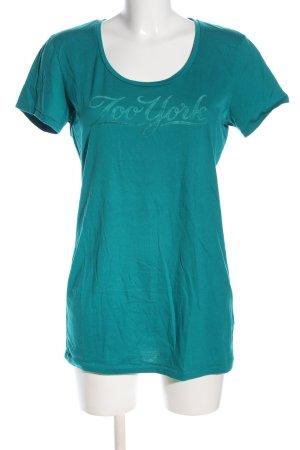 Zoo york Print-Shirt blau Schriftzug gedruckt Casual-Look