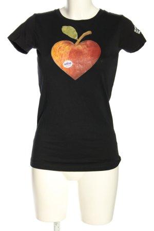Zoo york Camiseta negro-naranja claro estampado temático look casual