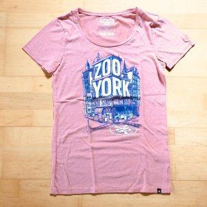 Zoo York T-Shirt Gr  S rose Shirt Frontprint Rundhals