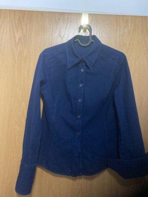zoomp Blouse en jean bleu foncé