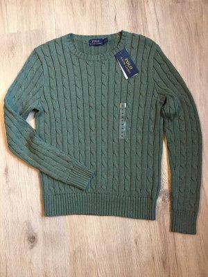 Ralph Lauren Jersey trenzado gris verdoso Algodón