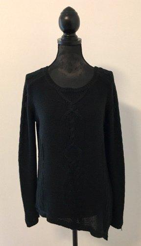 Zara Jersey trenzado negro