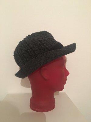 Chapeau en laine gris foncé-gris anthracite