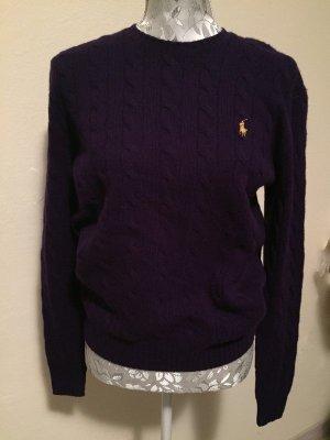 Polo Ralph Lauren Pullover in cashmere marrone-viola-rosso mora Lana