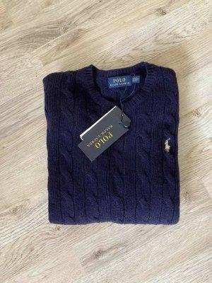 Polo Ralph Lauren Wool Sweater dark blue wool