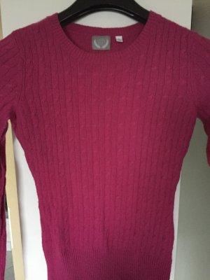 Arabella & Addison Kraagloze sweater magenta