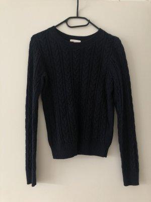 H&M Jersey trenzado azul oscuro