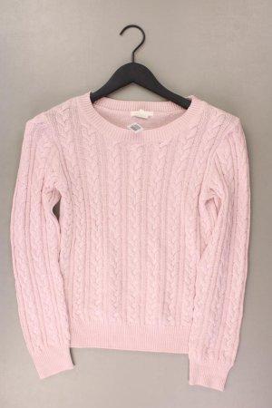 Warkoczowy sweter stary róż-różany-jasny różowy-różowy Poliakryl