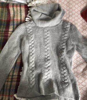 Vero Moda Warkoczowy sweter jasnoszary