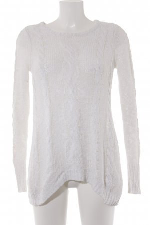 Cable Sweater natural white cable stitch casual look
