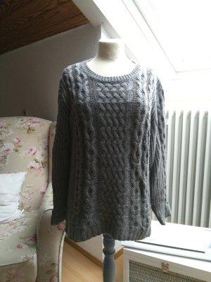 Esprit Warkoczowy sweter jasnoszary-szary