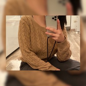 H&M Cable Sweater light brown