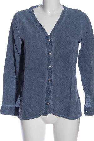 ZOSO Hemd-Bluse blau Casual-Look