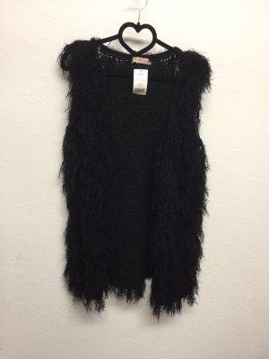 krisp Fringed Vest black