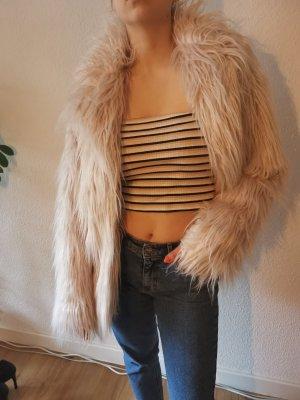 Jane Fake Fur Jacket pink-light pink