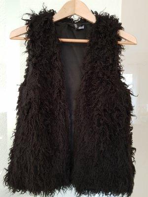 H&M Divided Fur vest black
