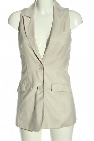 Zoul Long Knitted Vest cream casual look