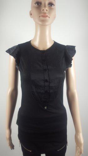 Zu+Elements Damen Blusen Top mit Seiden Kontrast Größe M NEU