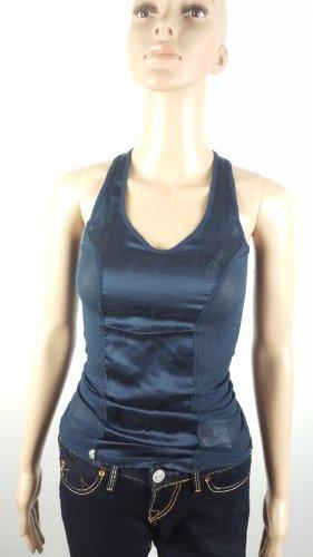 Zu+elements Damen Shirt Tanktop Seide Viskose marine Größe XS ungetragen