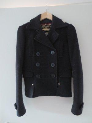 Zu Elements, schwarze Jacke, mit doppelter Knopfleiste, Gr. 36/S