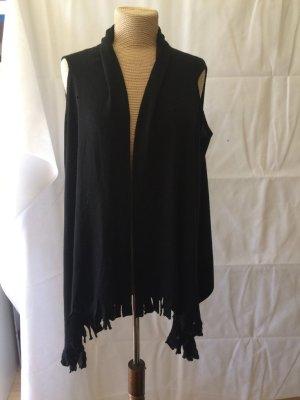 Zucchero Gilet tricoté noir laine