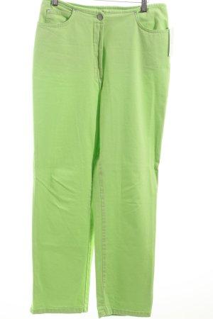 Zucchero Pantalon taille haute vert prairie style décontracté