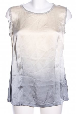 Zucchero Haut en soie blanc cassé-gris clair gradient de couleur élégant
