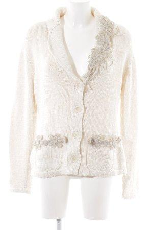 Zucchero Veste en tricot crème style décontracté
