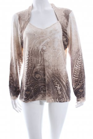 Zucchero T-shirt col en V motif embelli style romantique