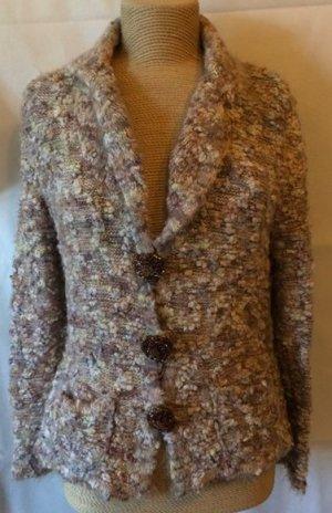 Zucchero Cardigan tricotés gris brun laine