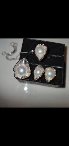 Catena d'argento argento-bianco sporco