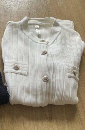 0039 Italy Veste en tricot blanc coton
