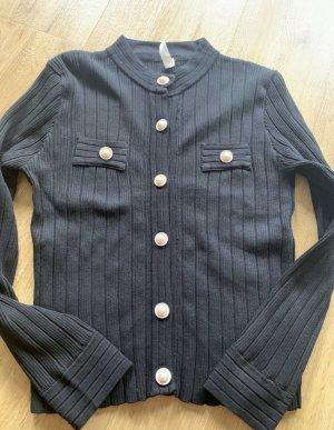 0039 Italy Kurtka o kroju koszulki czarny Bawełna