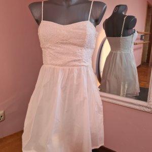zuckersüßes Baumwoll Kleid H&M 34 XS creme wollweiß Minikleid Skaterkleid
