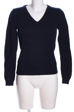 ZUE ANNA V-Ausschnitt-Pullover blau Casual-Look