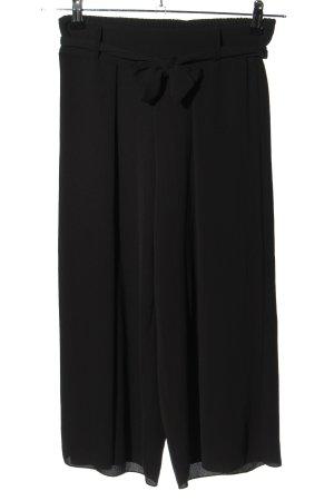 Zuiki Falda pantalón de pernera ancha negro look casual