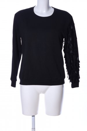 Zuiki Sweatshirt schwarz Casual-Look