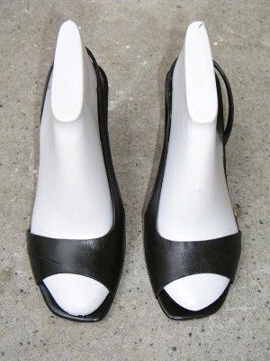 Costume National Sandaletto con tacco alto nero Pelle