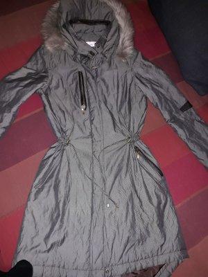 Linea Tesini Abrigo acolchado gris verdoso-marrón