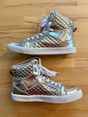 Zumba Wear High Top Sneaker gold-colored-white leather
