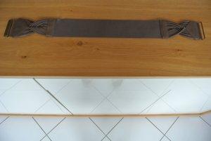 Pieces Hip Belt grey brown leather