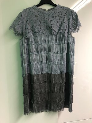 Oasis Fringed Dress multicolored