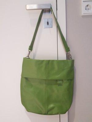 Zwei_grüne Schultertasche