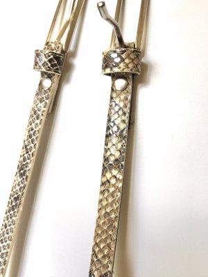 0039 Italy Cinturón de cuero de imitación marrón grisáceo-color bronce