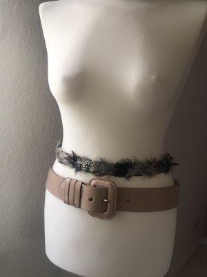 Cinturón pélvico crema-negro