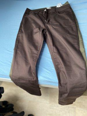 Pantalon kaki brun foncé-kaki