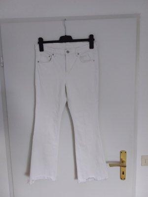 zwei Jeans cropped mit Fransen