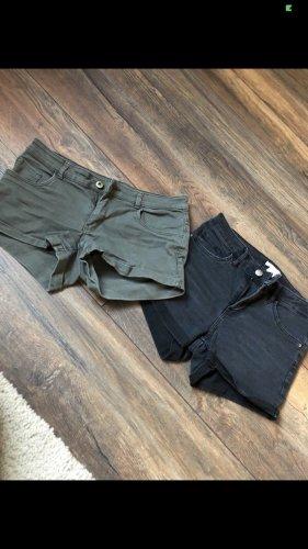 H&M Shorts nero-ocra