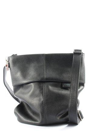 Zwei Schultertasche schwarz Casual-Look
