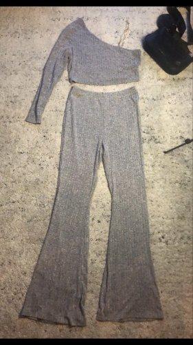 SheIn Jersey twin set lichtgrijs-grijs